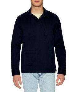 GANT RUGGER | Satin Twill Asymmetrical Zip Sportshirt