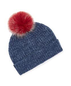 Sofia Cashmere   Ribbed Marl Cashmere Hat