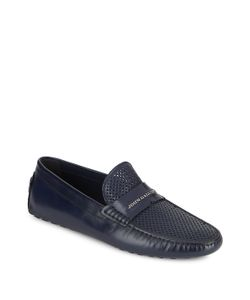Galliano | Perforated Leather Moccasins
