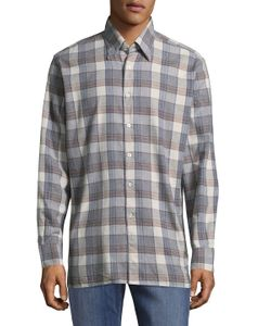 Canali | Casual Plaid Cotton Button-Down Shirt