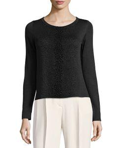 Akris   Back Drape Silk Sweater