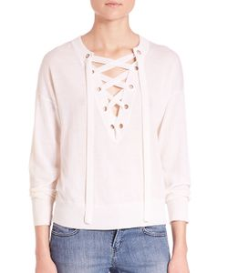 The Kooples   Lace Up Merino-Knit Sweater