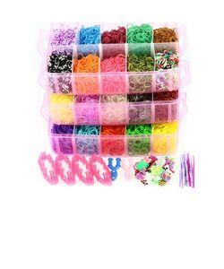 модная бижутерия | Набор Для Плетения Резиночками 12000 Шт