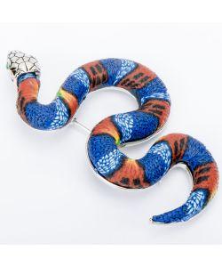 Бусики-Колечки | Брошь Змея Пластик