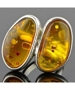 Бусики-Колечки | Кольцо Янтарь Золотой Рассвет