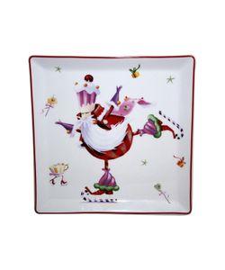 Elff Ceramics | Блюдо Веселый Санта 15Х15 См