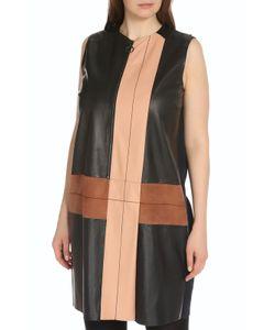 Max Mara | Платье На Молнии Без Рукавов С Вставками Из Кожи