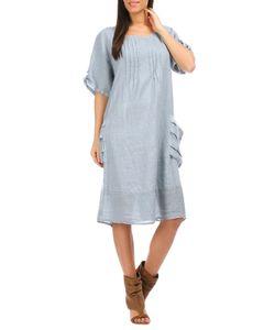 100% lin blanc | Платье