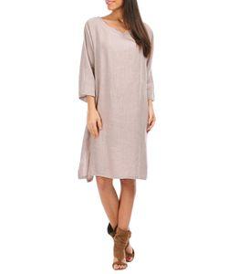 100% lin blanc   Платье