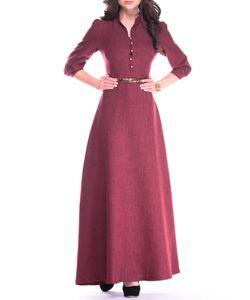 REBECCA TATTI | Платье-Макси С Поясом Расклешенное К Низу