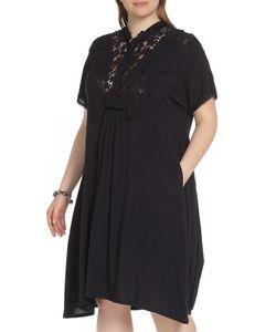 Amazone   Стильное Контрастное Платье Средней Длины