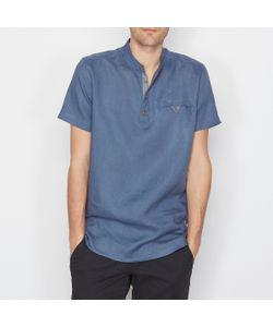SOFT GREY | Рубашка Из 100 Льна Свободный Покрой Короткие Рукава