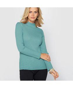 ANNE WEYBURN | Пуловер С Высоким Воротником И Плоскими Швами 50 Шерсти Мериноса