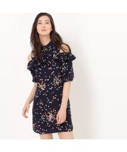 R édition | Платье С Рисунком Открытыми Плечами И Воланами