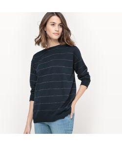 R essentiel | Пуловер Из Хлопка И Кашемира В Металлизированную Полоску