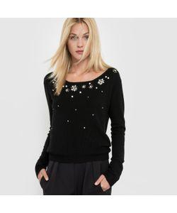 Molly Bracken   Пуловер С Вышивкой Круглый Вырез