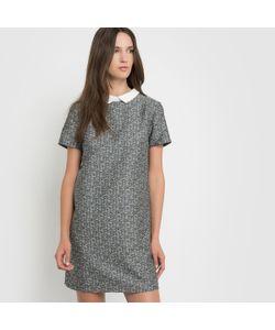 SCHOOL RAG | Жаккардовое Платье С Отложным Воротником