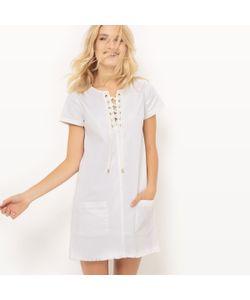 Cimarron | Платье С Короткими Рукавами Вырез На Шнуровке