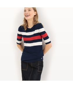 TOM TAILOR | Пуловер Из Тонкого Трикотажа В Полоску С Короткими Рукавами