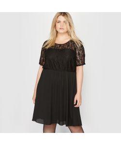 CASTALUNA | Платье С Кружевным Верхом. Короткие Рукава