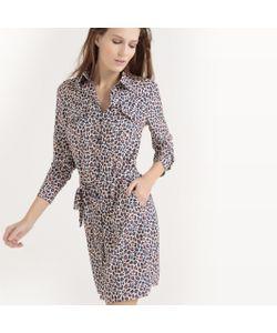atelier R | Платье-Рубашка С Леопардовым Принтом