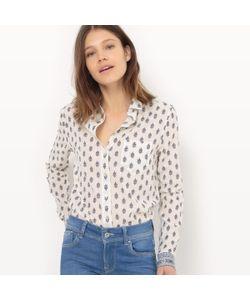 Pepe Jeans London   Рубашка С Цветочным Рисунком Длинные Рукава
