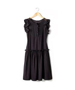 SOFT GREY | Платье Со Вставками Из Вуали