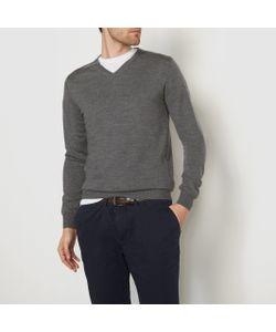 R essentiel | Пуловер С V-Образным Вырезом 100 Шерсти Мериноса