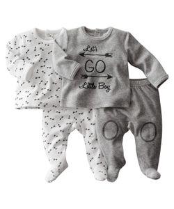 R mini   Пижама Велюровая Комплект Из 2 0 Месяцев-3 Года