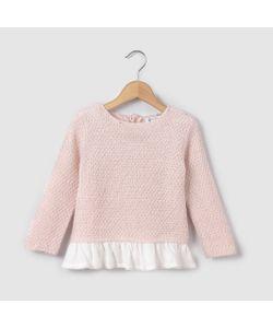 R mini | Пуловер Из Двух Материалов 1 Мес. 3 Года