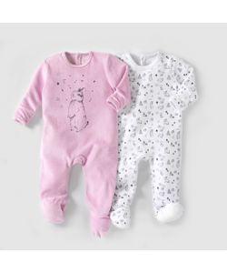 R baby | 2 Пижамы Из Велюра 0 Месяцев 3 Года
