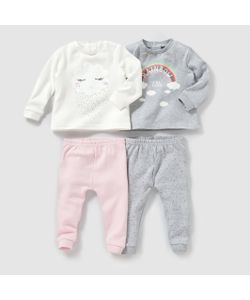 R mini | 2 Пижамы Верхниз Из Трикотажа Интерлок 0-3 Лет