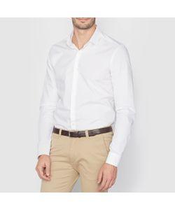 R essentiel | Рубашка Узкого Покроя Из Поплина. Длинные Рукава