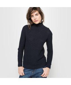 R essentiel | Пуловер В Высоким Воротником Застегивающимся На Пуговицы
