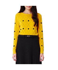 Yumi | Пуловер С Вышитыми Помпонами 100 Хлопок