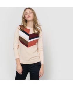 R édition | Пуловер С Геометрическим Рисунком Длинный Рукав