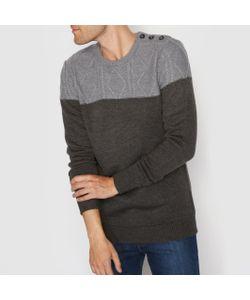 R édition | Пуловер Двухцветный С Узором Косы