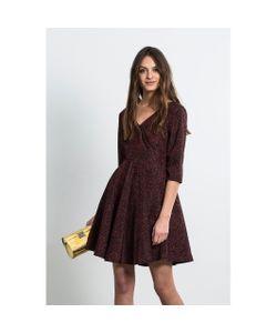 Compania Fantastica   Платье Расклешенное С Рукавами 3/4 Dena Burdeos Dress