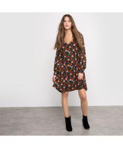 R édition | Платье С Мягкими Линиями И Цветочным Рисунком