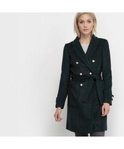 TOM TAILOR | Пальто С Саржевым Эффектом Coat Solid