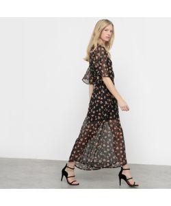 R édition | Платье Длинное Из Вуали С Рисунком В Стиле Фолк