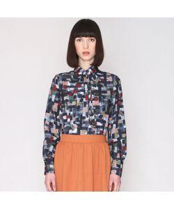 Pepaloves | Рубашка С Разноцветным Принтом И Воротником-Лавальер