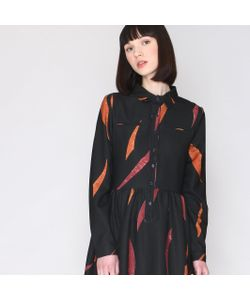 Pepaloves   Платье С Рисунком Рубашечный Воротник
