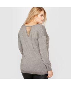 CASTALUNA | Пуловер С V-Образным Вырезом Из Блестящего Трикотажа С Отделкой Спинки Мелким