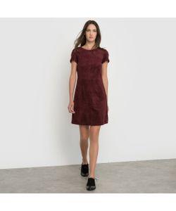 Esprit | Платье С Короткими Рукавами Из Искусственной Замши