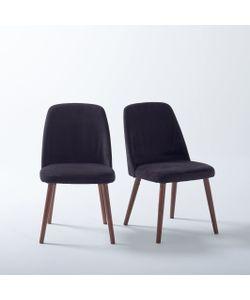 La Redoute Interieurs | Комплект Из 2 Стульев Бархат И Орех Watford