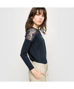 R édition | Пуловер С Круглым Вырезом И Кружевной Вышивкой