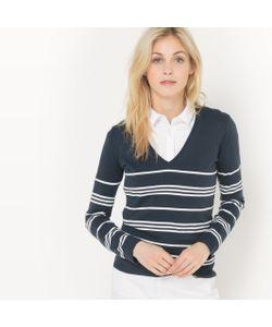 R édition | Пуловер С V-Образным Вырезом Из Хлопка