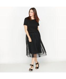 CASTALUNA | Платье Из Двух Материалов С Эффектом 2 В 1
