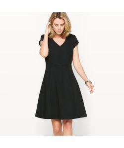 ANNE WEYBURN | Платье Расклешенное Из Саржи Стрейч